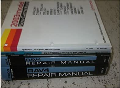 2003 toyota rav4 rav 4 service repair shop manual set factory books oem 03  huge (2 volume set,wiring diagrams manual, automatic transaxle manual,and  the new