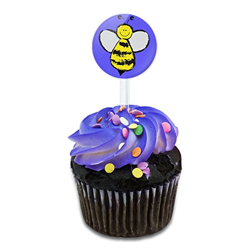 Busy As A Bee Cake Cupcake Toppers Picks Set