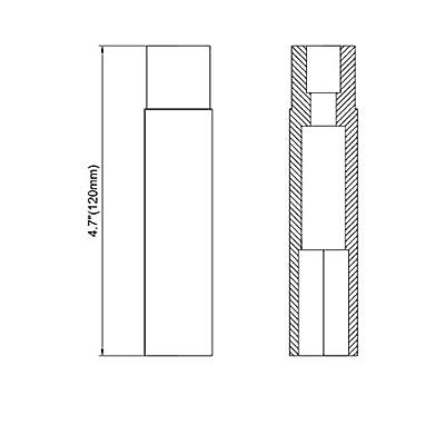 KSP 32 PCS Black Spike Lug Nuts 14x1.5 Spiked Metal Lug Nuts Solid 4.4