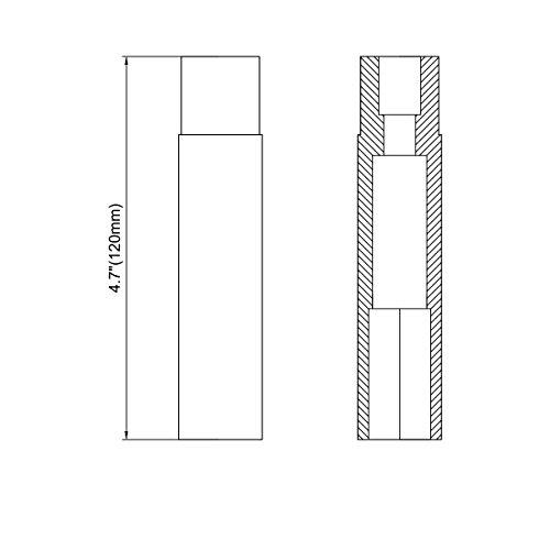 14 mm x 1.5 Wheel Spike Lug Nuts, 24 x Silver M14x1.5 Lug Nut, Cone/Conical Bulge Seat, Dynofit Silver Closed End Nuts with 1 Socket Key for Chevy Silverado Aftermarket Wheel by Dynofit (Image #4)