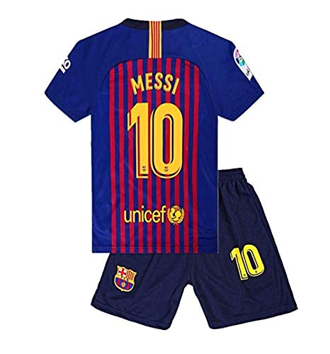 fa142fb75be1e Barcelona Messi 10 Uniform Soccer Jersey and Short for Kids Season 2018-2019  Best Soccer