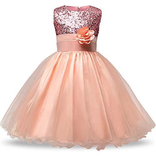 Children's Princess Girl Dress Sequins Tops Christmas Kid's Party Costume Girls Dresses Summer Brand Teen Girl Clothing Size(C126F,8T)]()