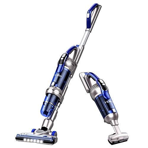 Holife 20Kpa Cordless Stick Vacuum Cleaner, 2 in 1 Powerful Upright Vacuum Rechargeable, 380W Lightweight Handheld Vacuum Bagless with LED Brush for Carpet Pet Hair Floor
