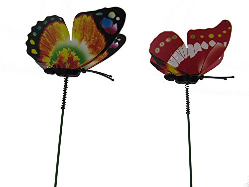 Zxuy butterfly garden ornaments patio decor butterfly for Outdoor butterfly ornaments