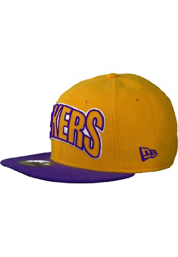 Los Angeles Lakers NBA Yellow Edge Up New Era Cap 59Fifty Fitted Baseball Cap