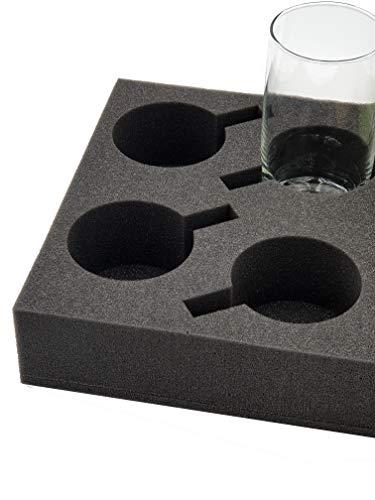 41LYu81R9pL XL Tassenhalter Glashalter Gläserhalter Platz für bis zu 8 Stück - Schaumstoff für Camping Wohnwagen Wohnmobile Boote…