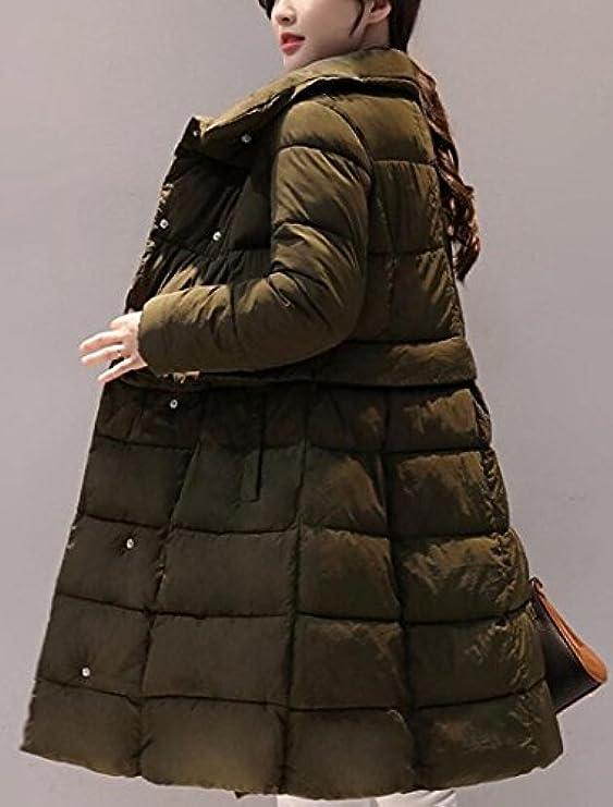 A Trapuntato Parka Women line Style Cappotto Stile Swing Overcoat Ainr Risvolto Down q4fBxRHXw