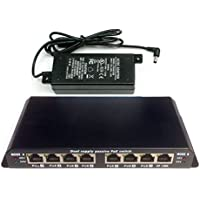 8 port Ethernet switch with Passive PoE on 7 ports -WS-POES-8-7-48v60w - power over ethernet for 802.3af with 48 volt 60 watt supply