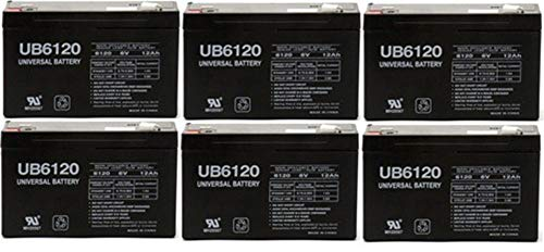 Universal Power Group 6VOLT 12AMP DEEP-Cycle Rechargeable Sealed Energy Storage Battery 12AH 6V - 6 Pack (Best 6 Volt Golf Cart Batteries)