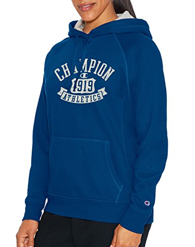 Champion Womens Heritage Fleece Pullover Hoodie, S, Winter River Teal (Jersey Vintage Champion)
