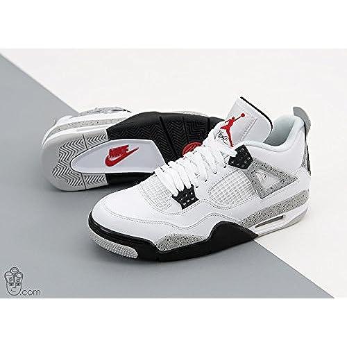 """76dbcf3949ee Nike Air Jordan 4 OG """"White Cement"""" White Fire Red-Black-Tech Grey ..."""