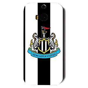 Custom Design FC Newcastle United FC Team Logo Phone Case Cover For Htc One M8 3D Plastic Phone Case