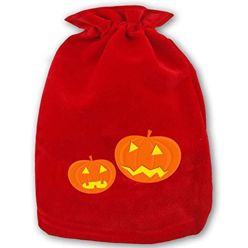 Christmas Santa Sacks - Size 13.78X 17.72 Personalized Xmas Gifts Bags Drawstring Kids Pumpkins Faces Scary Halloween Funny -