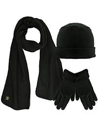 Polar Fleece 3 Piece Hat Scarf & Glove Matching Set