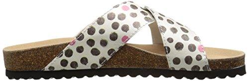 Re Cross Women's Dots Flat Sandal Sole BZB6pa