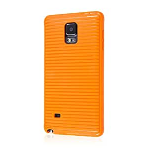 Samsung Galaxy Note 4 Case, EMPIRE GRUVE Full Protective Shock Resistant Soft Textured Non Slip Flexible TPU Slim Case for Galaxy Note 4 [Perfect Fit & Precise Port Cut Outs] - Orange