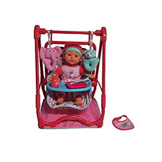 """DREAM COLLECTION 12"""" Baby Doll 4-in-1 High Chair Play Set"""