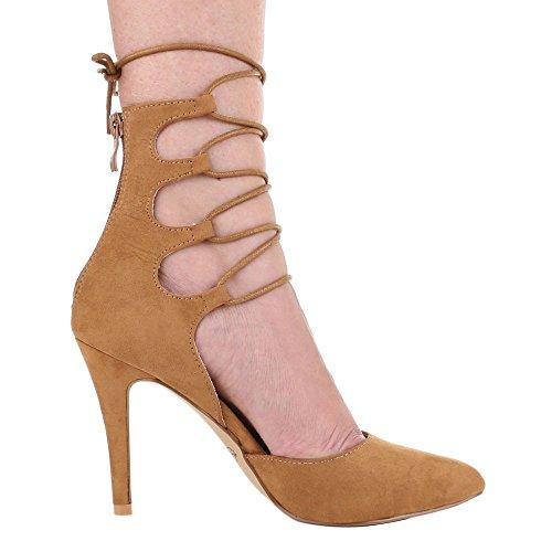 Ital-Design - Zapatos de Tacón Mujer marrón claro