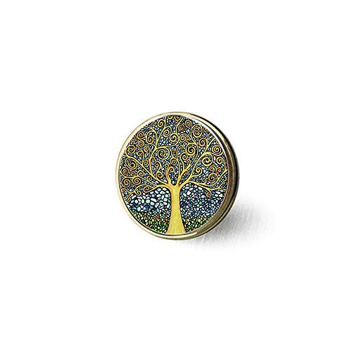 - asd he Tree of Life time Ruby Pendant Brooch Literary Jewelry