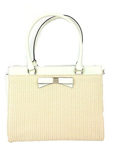 Kate Spade WKRU3048 Jovie Montfort Park Straw Clutch Handbag