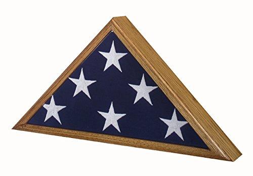 SpartaCraft Vintage Oak Veteran Military Retirement Memorial American Flag Case Made In America. by SpartaCraft