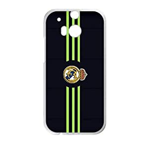 Real Madrid Black HTC One M8 Cell Phone Case White LWT