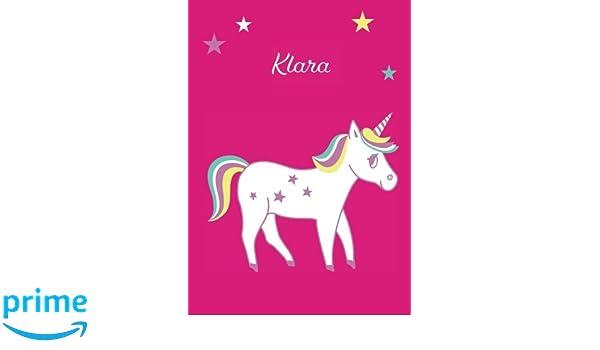 blanko Notizbuch Einhorn Malbuch Tagebuch Klara DIN A4