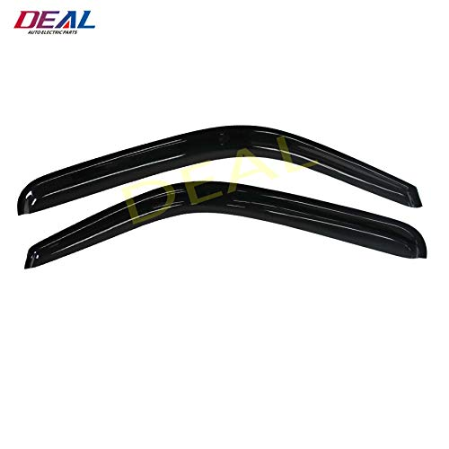 DEAL 2-piece set front door vent shade visor, side window sun rain guard with outside mount tape-on type, fits 99-06 Chevy Silverado/GMC Sierra, 07 Chevy Silverado/GMC Sierra Classic Body Only