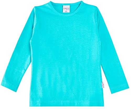 Lovetti Girls' Basic Long Sleeve Round Neck T-Shirt