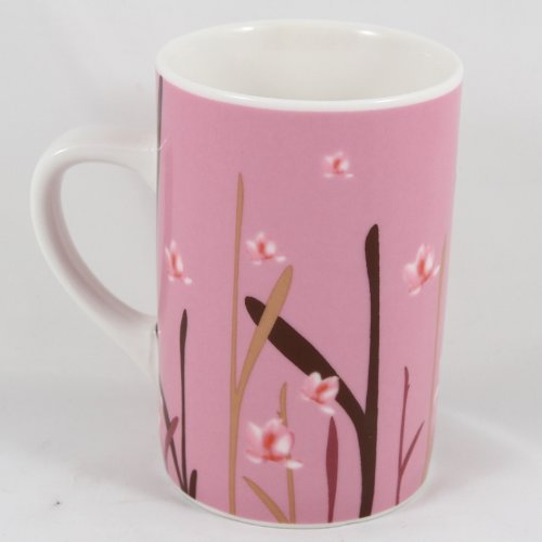 Starbucks Print (Starbucks Coffee 2004 Tall Pink Flower Print Mug 12 fl. oz.)