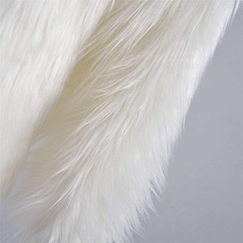 Manga Mujer Larga Largos Elegante Abrigo Termica Espesar De Chaqueta Sintética Huixin Parka Colores Modernas Grande Invierno Encapuchado Piel Sólidos Talla Blanco pwvftx