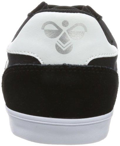 Hommel Sneaker Unisex Volwassen - Slanker Stadil Laag - Casual Schoenen Div Kleuren -. Halbschuh Linnen / Suède - Classic Sneaker Comfortzool Zwart (zwart / Wit Kh)