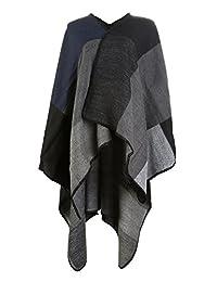 UTOVME Fashion Winter Poncho Cashmere Feel Cardigan Oversize Blanket Cape Cloak