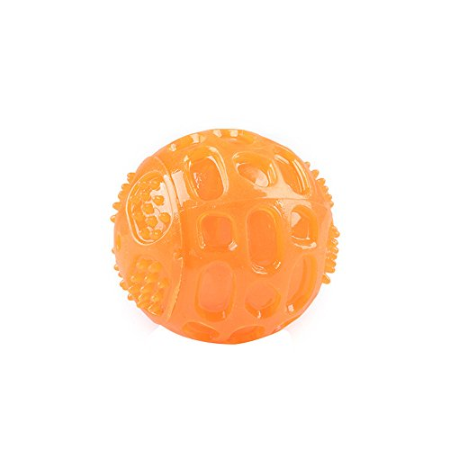 ❤️ Yaida❤️Creative Dog Ball Toy Chew Sounding Bite Fetch Play Teeth Cleaning Pet Supplies ()