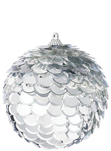 (4-inch Layered Mirrored Ball Ornament)