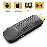 Display Dongle Support Wireless and Wired 2 in 1 Display Receiver for TV/Projector 1080P HDMI Miracast Dongle Compatible for Windows/Android/iOS Smartphone,Tablet,iPhone,iPad,Laptop