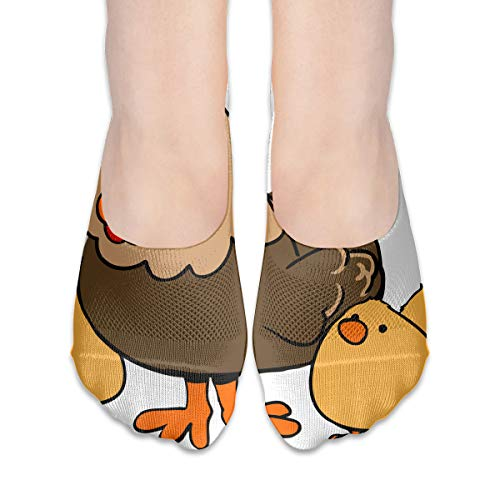 - BRECKSUCH Hen Clipart Suits Women's Anti-Slip Boat Socks,Unique Casual Thin Polyester Cotton Low Cut Socks,Hidden Flat Boat Liner
