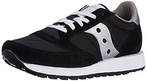 Saucony Originals Men's Jazz Sneaker,Black/Silver,10 (Nylon Mens Sneakers)