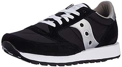 Saucony Originals Men's Jazz Sneaker,Black/Silver,5 M