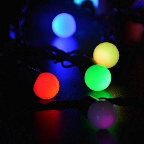 lederTEK Decorative 50 LED 16ft RGB Ball Light, Color ...