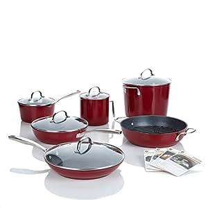 Curtis stone dura pan nonstick 12 piece chef 39 s for Naaptol kitchen set 70 pieces