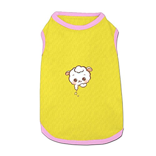 Jazipaty Lamb With Stars Pet Clothes Small Dog Cat Pet T-shirts Breathable Sleeveless Puppy Costumes Summer Custom Vest -