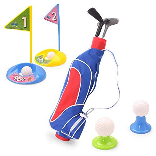 EXERCISE N PLAY Toy Golf Set, Golf Clubs Set, Golf Ball Game, Educational Outdoor Sports Fun for Toddlers Kids Boys Girls -