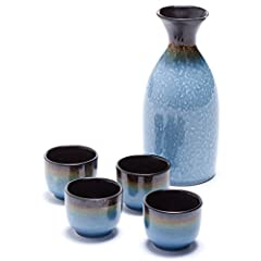 Enjoy your favorite sake with the gorgeous Oenophilia Osaka Sake Set. A lovely representative of the Japanese culture, this contemporary design easily accommodates any home décor. Made of durable, beautiful ceramic materials, this set feature...