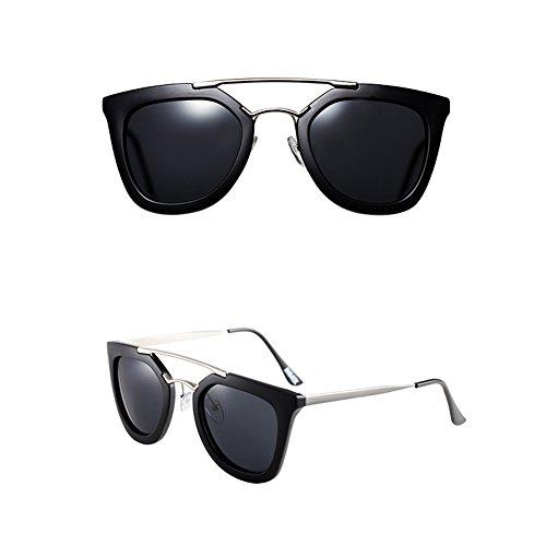 de espejo moda gafas de los sol sol mujeres de haz sol vidrios hombres de simples para doble hombre de hombres UV personalidad de de gafas conducción gafas protección las A Gafas de 0q0BSAw7U