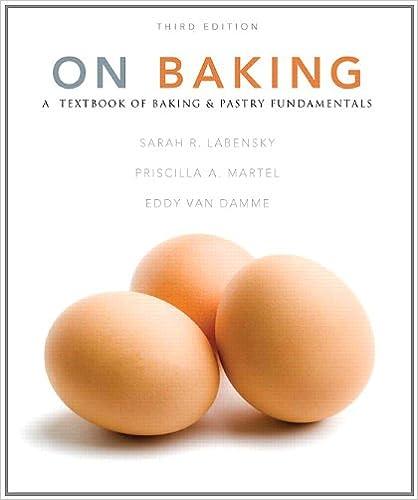 On baking (3rd edition): sarah r. Labensky, priscilla a. Martel.