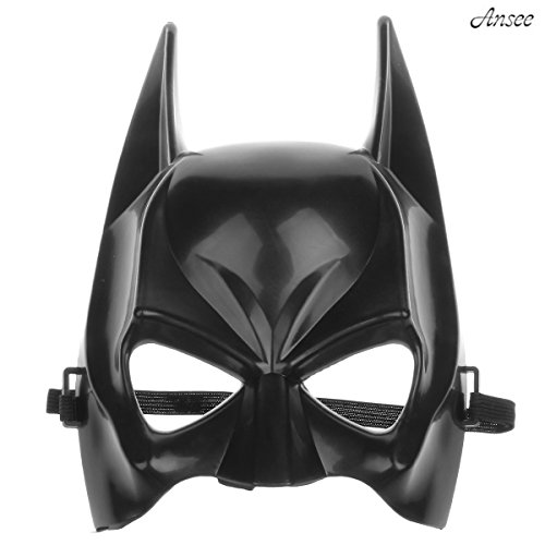 Ansee Batman Half Face Mask Classical Cartoon Figure Child Mask for Halloween Party - Black -