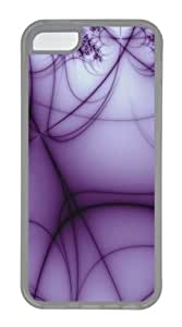 iPhone 5C Case,Abstract Purple lines TPU Custom iPhone 5C Case Cover Transparent
