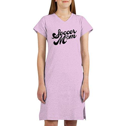 CafePress - Soccer Mom - Women's Nightshirt, Soft Long Pajama Shirt, Cotton PJs/Pyjamas Pink