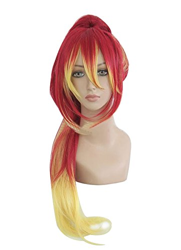 Mtxc Blue Exorcist Cosplay Shura Kirigakure Wig Red Mixed Yellow -